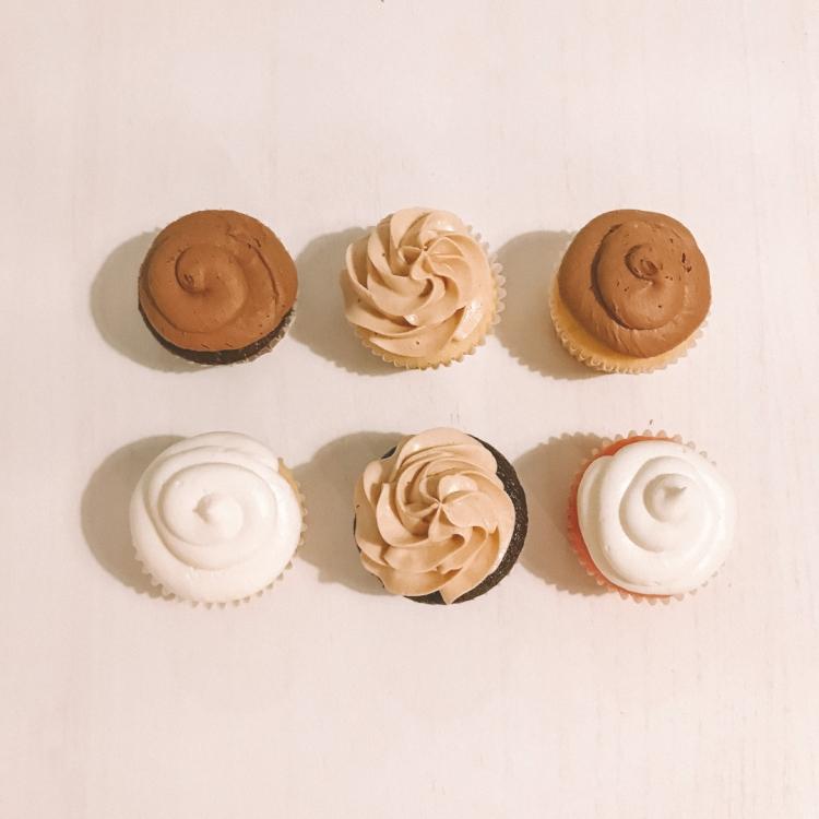 6 cupcakes square