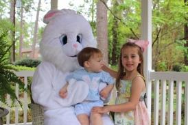 Camp & Izzy with bunny 2015