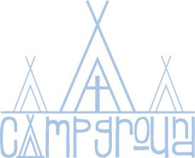 Teepee 3 with Campground logo blue